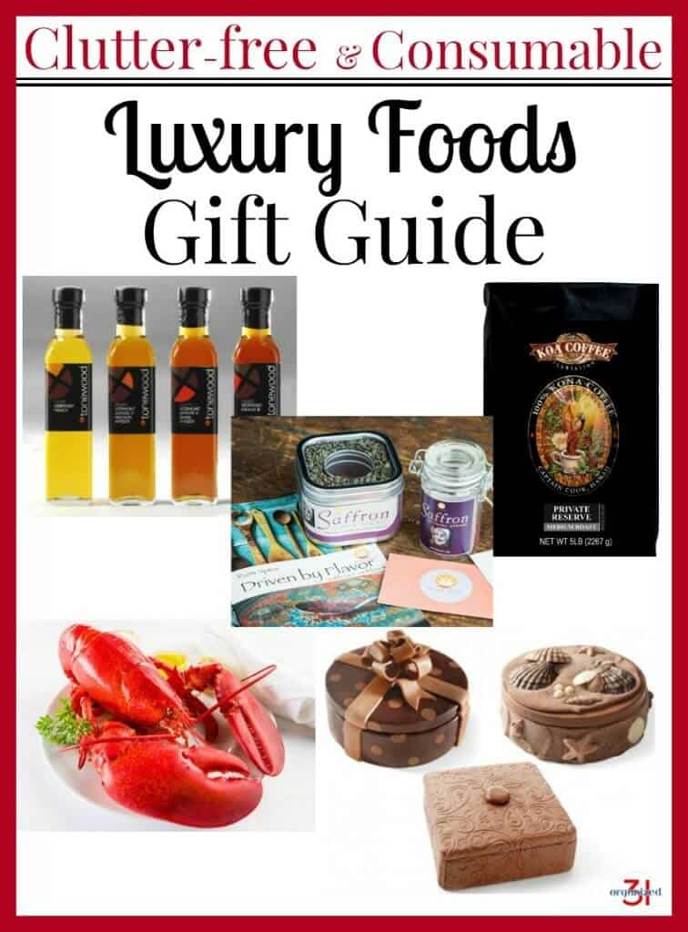 A collection of clutter-free consumable gifts in a Luxury Food Gifts Guide that's sure to please the most discriminating on your gift list.