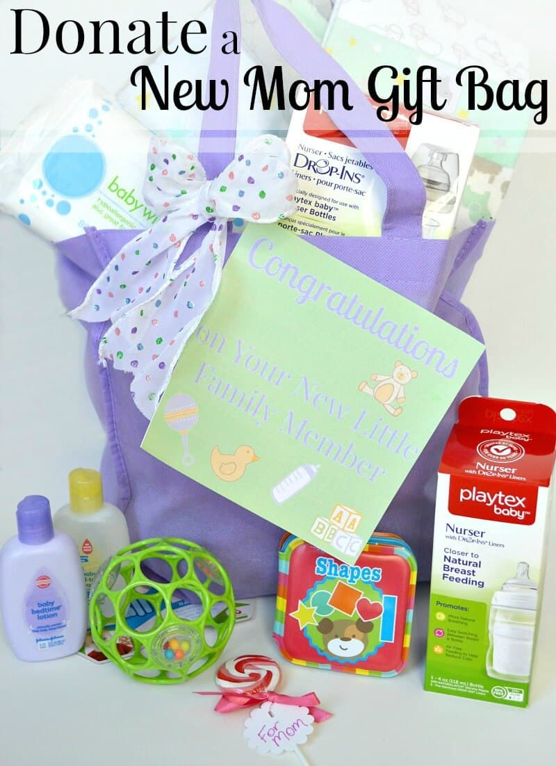 new baby gift idea donate a gift bag organized 31