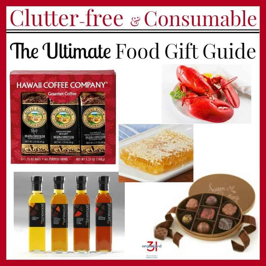 A collection of clutter-free consumable gifts in the Ultimate Food Gift Guide that's sure to please everyone on your gift list.
