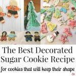 This really is the best decorated sugar cookie recipe for versatile cut-out and decorated holiday cookies or cookies for any occasion.