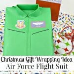 Christmas Gift Wrapping Idea – Air Force Flight Suit