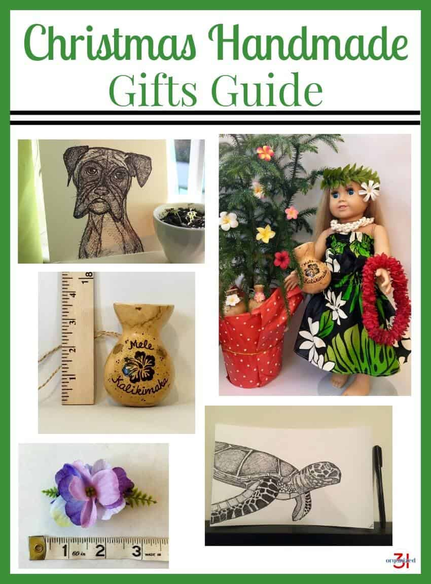 Christmas Handmade Gifts Guide featuring top-quality unique handmade gifts.