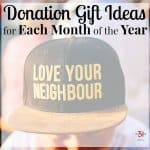 Donation Gift Ideas for Each Month of the Year