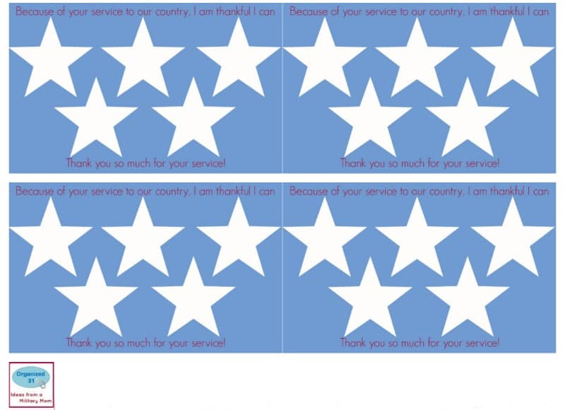 Images of 4 blue with with stars veterans day cards