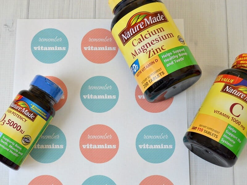 7 Tips to remember to take vitamins for healthier habits and lifestyle. #NatureMadeatWalmart #IC [ad]