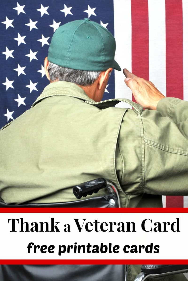 veteran sitting in wheel chair and saluting flag with text overlay
