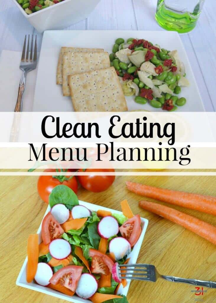 Clean Eating Menu Planning will save you time and money and help you focus on feeding your family the healthiest meal options. Use my free Clean Eating Menu Planning printable.
