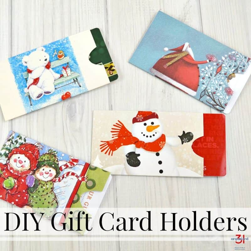Diy Gift Card Holders Made From Repurposed Christmas Cards