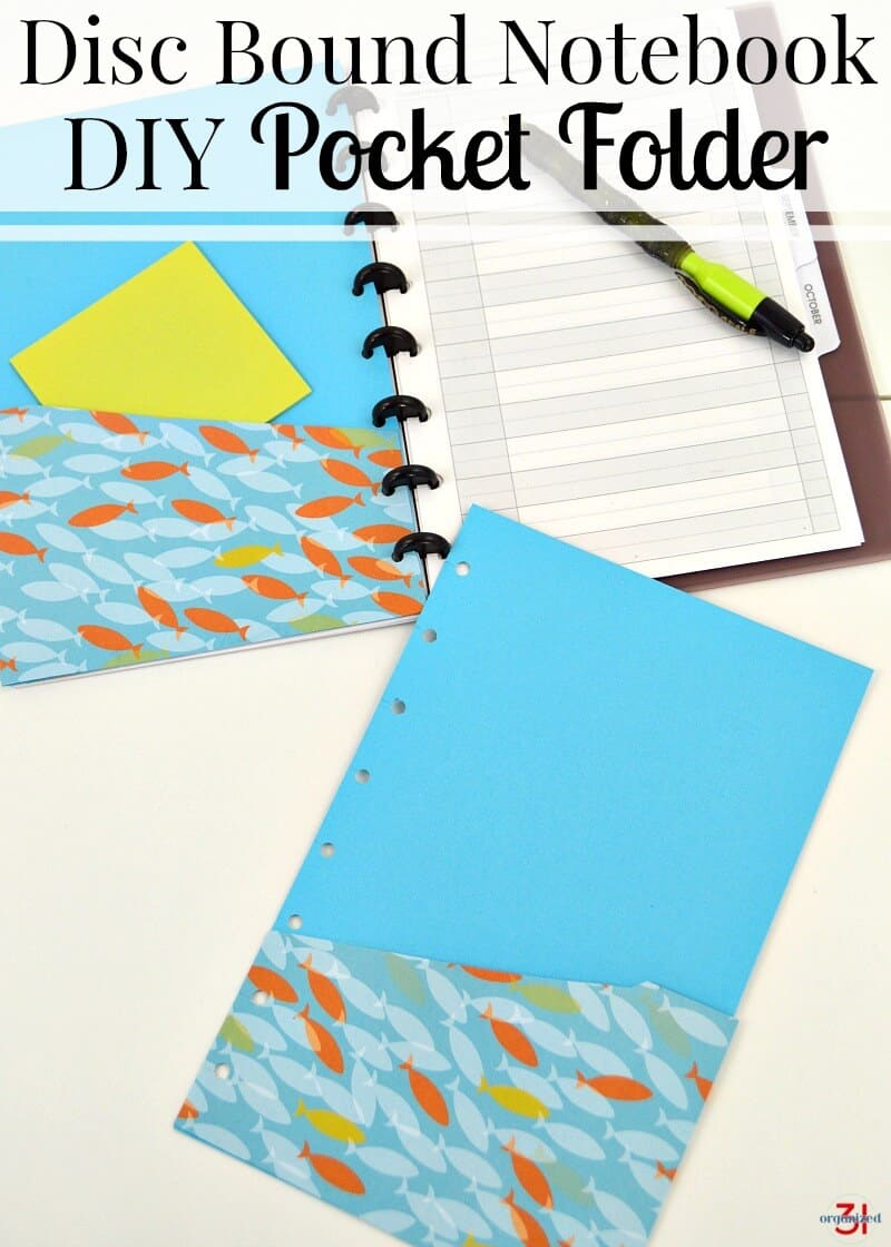 How to make your own DIY Pocket folder for your disc bound notebook. You can make one in about 15 minutes and for less than $1.