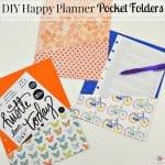 DIY Happy Planner Pocket Folder