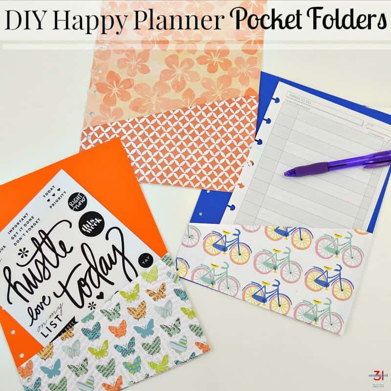 colorful pocket folders on white table