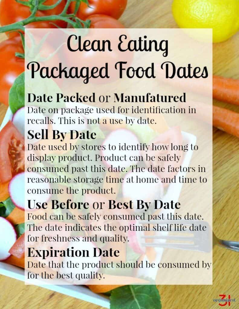 Clean eating food storage tips for healthy and organized food storage and kitchen.