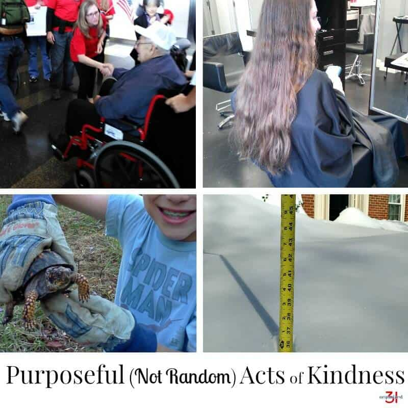 collage of photos about acts of kindness