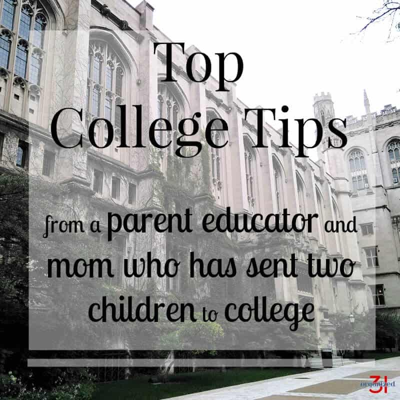 I've sent two of my children off to college more than 10 hours away from home. These are my top college tips to help you and your student have a successful college experience.