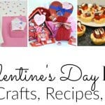 Collage of 5 Valentine's Day crafts and food with text overlay