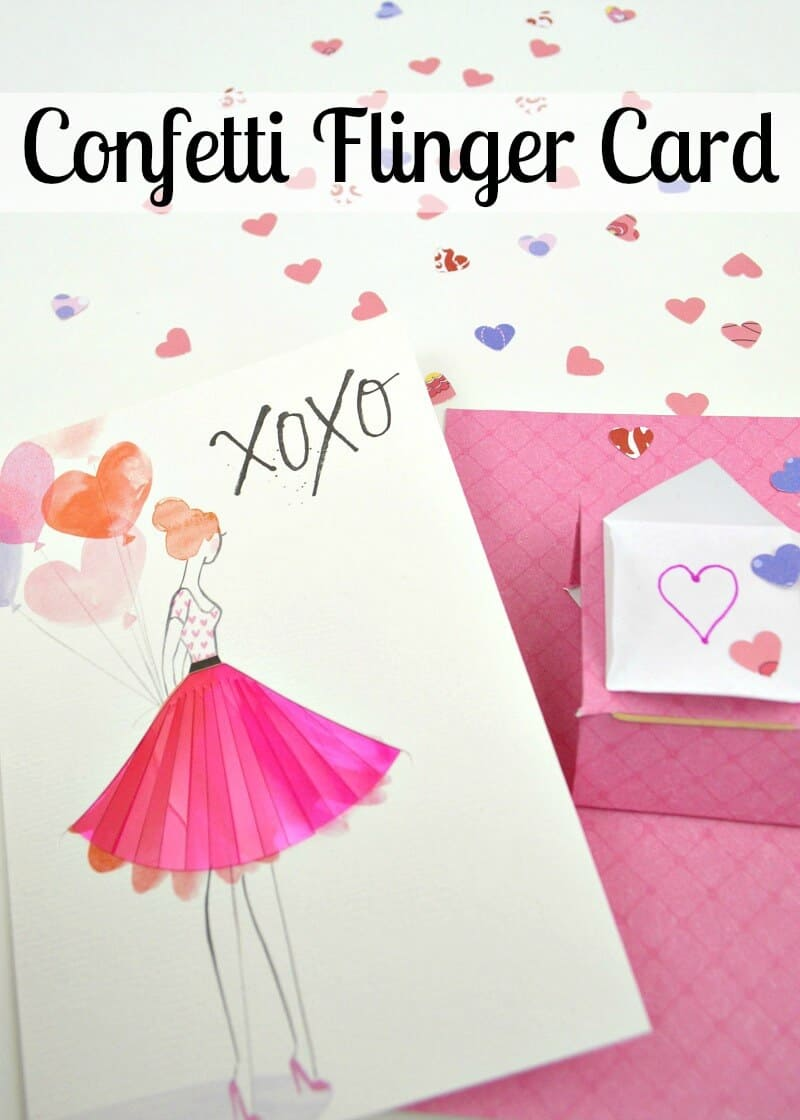 Adding a confetti flinger card insert to a college care package or for any loved one is a fun way to make a card even more special. It's easy to make with this step-by-step tutorial. #SendingYourLove [ad]