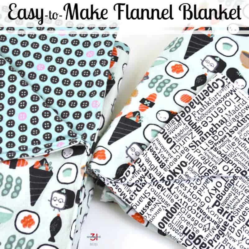 A personalized handmade gift is the perfect gift thanks to this easy-to-make flannel blanket tutorial.