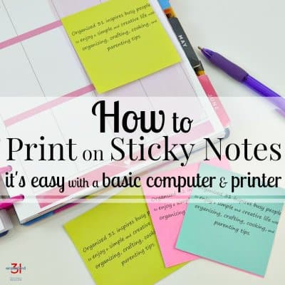 How to Print on Sticky Notes