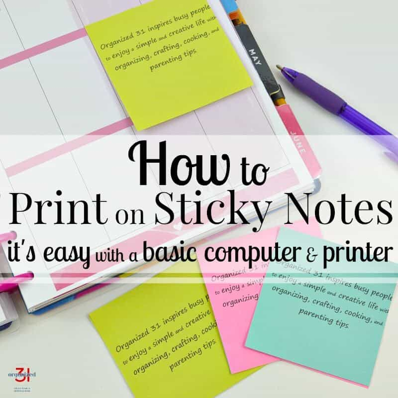 How To Print Your Own Message On Sticky Notes Printing Post It