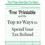 Top 10 Ways to Spend Your Tax Refund