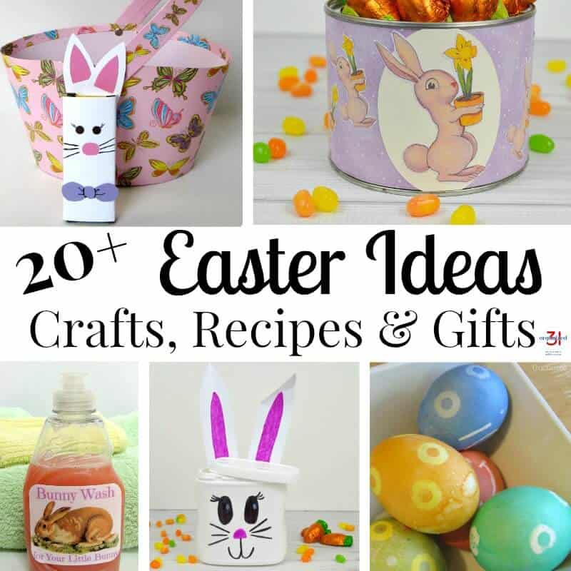 20+ Easter Ideas that are simple and easy to do, including crafts, gifts, recipes and projects.