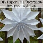 DIY Paper Star Decorations