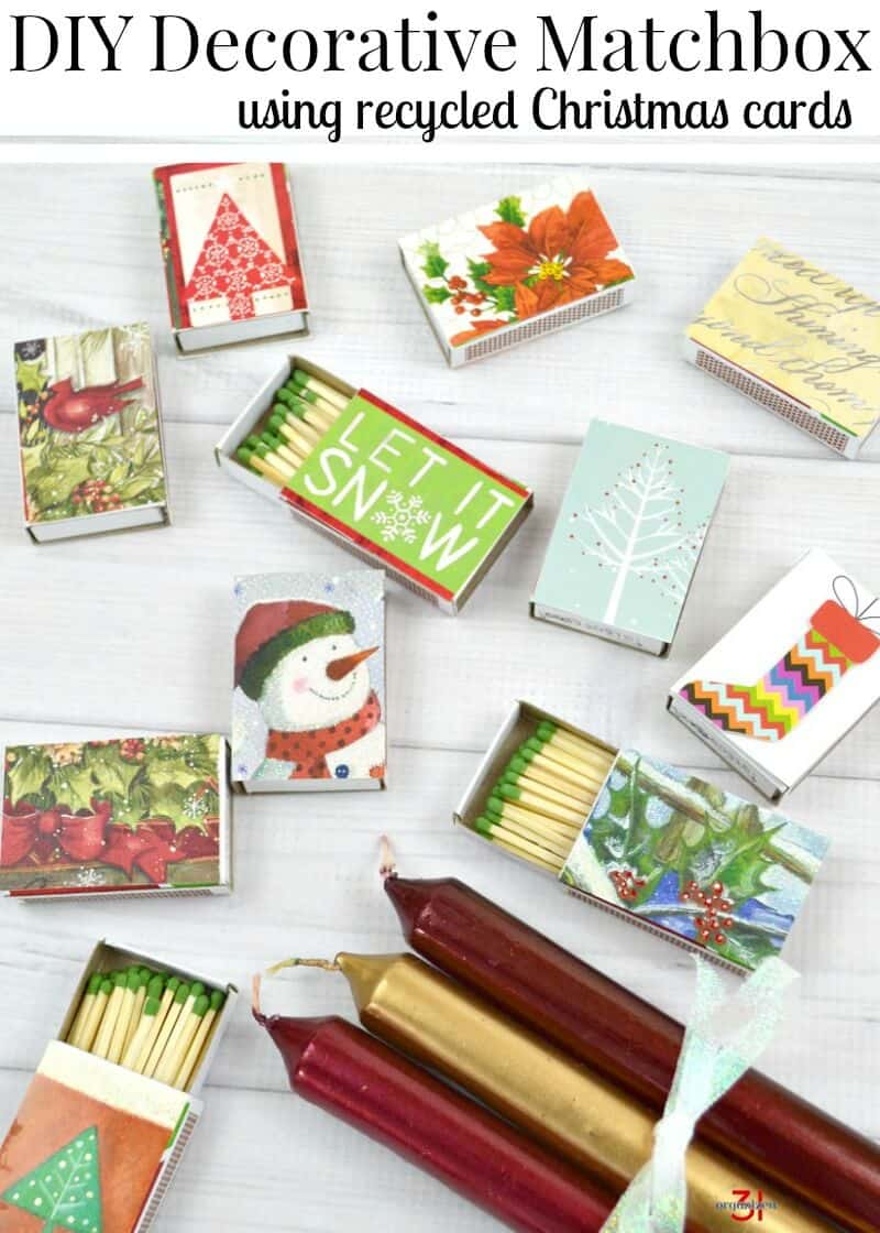 Diy Decorative Matchboxes From Recycled Christmas Cards