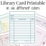 Library Cards Printable