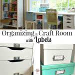 Organizing a Craft Room with Labels