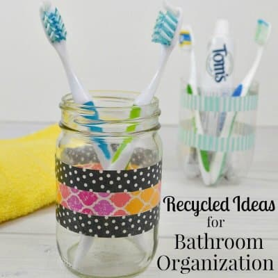 Recycled Ideas for Bathroom Organization