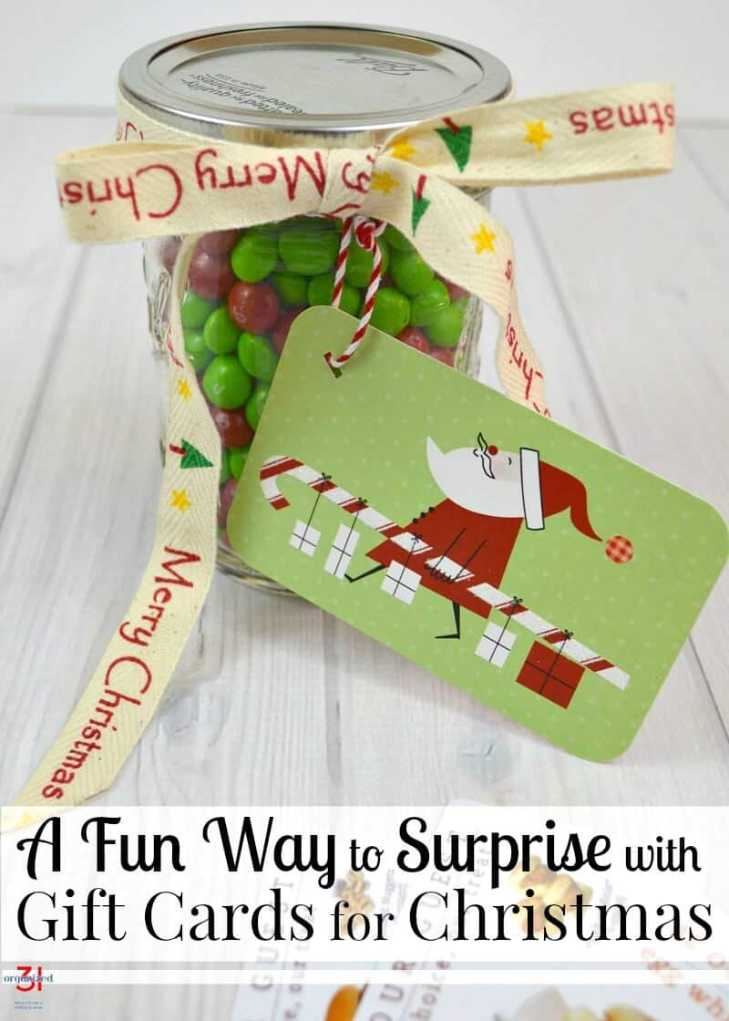 Giving gift cards can be fun with surprise gift cards Christmas gifts that are quick and easy to make. Jazz up gift card gift giving with this fun idea.