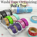 Washi Tape Organizing That's Free