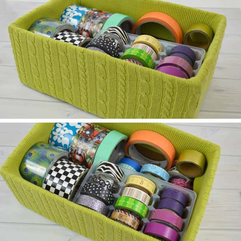 Washi tape organizing can be useful, free and earth-friendly. Washi tape organization makes it quick & easy to find what you need so you can create & craft.