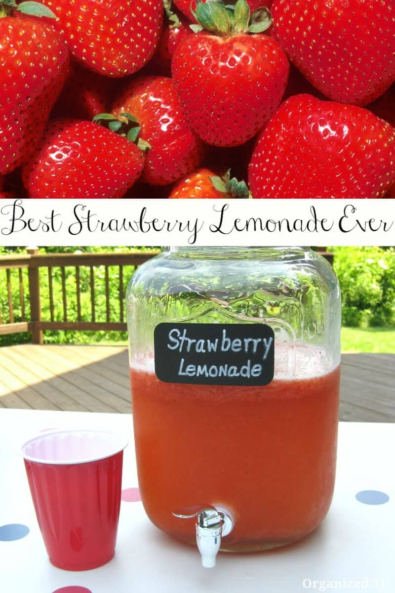 You can make the best strawberry lemonade in small or large batches. Perfect for parties or lazy sunny days.