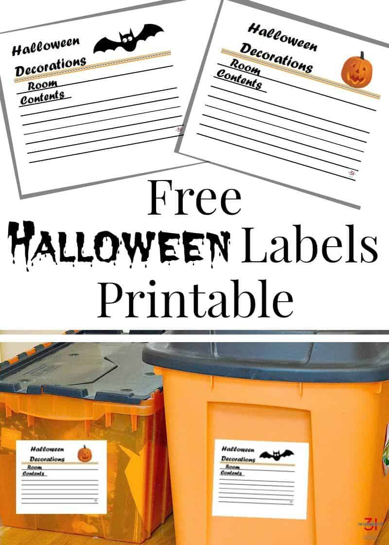 picture regarding Printable Halloween Labels known as No cost Halloween Labels Printable - For Arranging Decorations