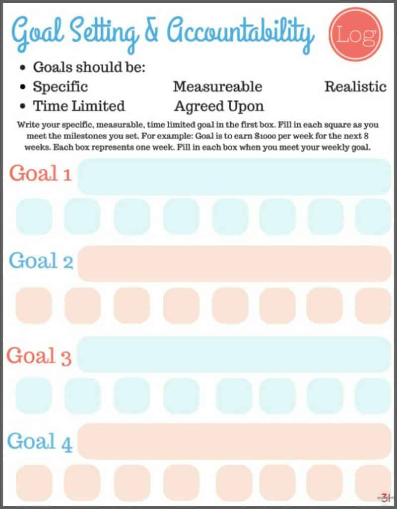 picture relating to Free Printable Goal Sheets named No cost Printable Function Surroundings Worksheets - Geared up 31