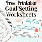 Free Printable Goal Setting Worksheets