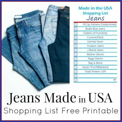 Jeans Made in USA Shopping List
