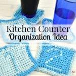 Kitchen Counter Organization Idea
