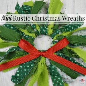 image of mini DIY Christmas wreath with text overlay