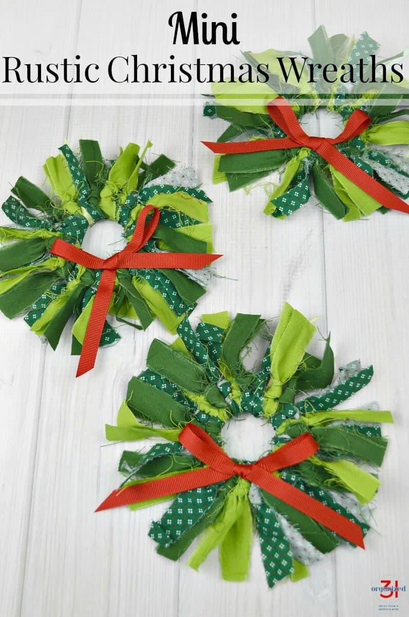 Rustic Christmas Wreaths To Make.Mini Rustic Christmas Wreaths Organized 31