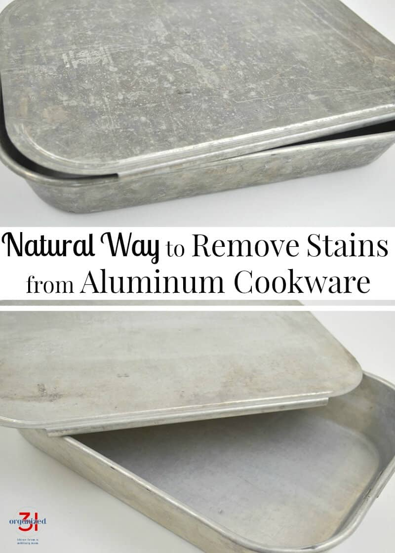 A natural way to remove stains from aluminum cookware and bakeware with ingredients you already have in your home. Bring those old pans back to life.