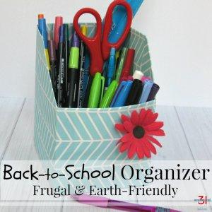 Back-to-School Organizer for Desk Supplies