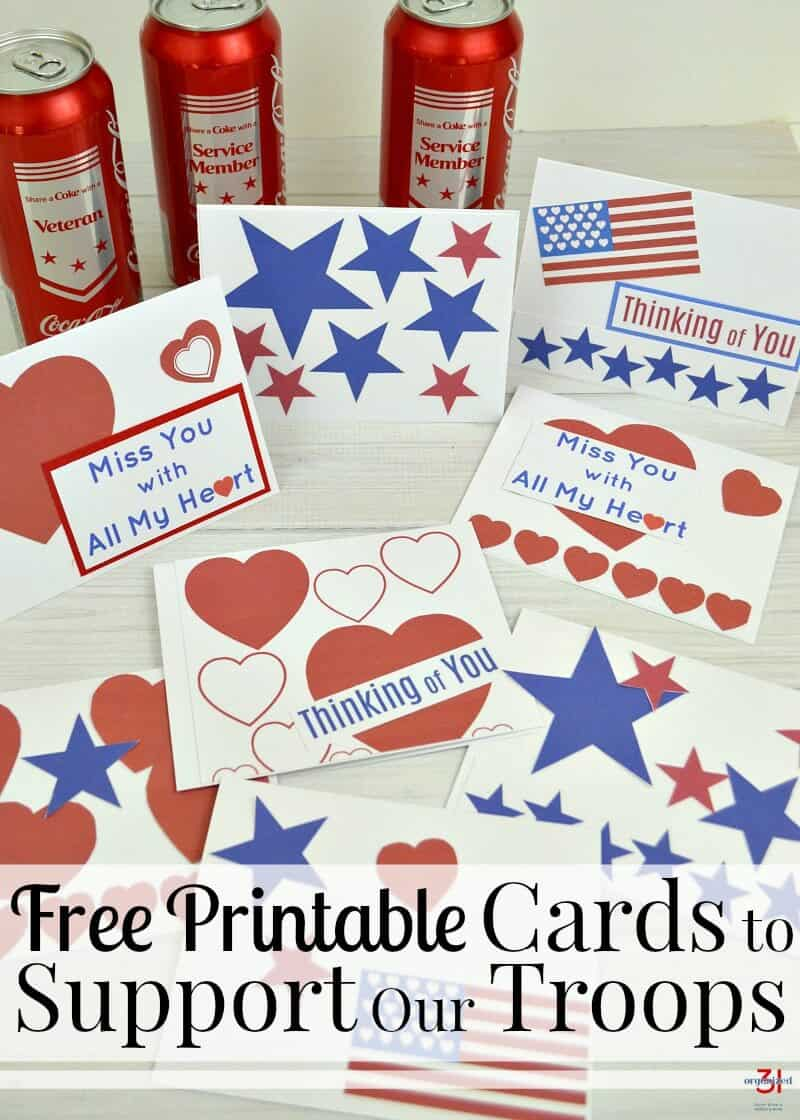 Cards to Support Our Troops - Free Printable - Organized 31