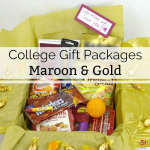 College Gift Packages – Maroon and Gold