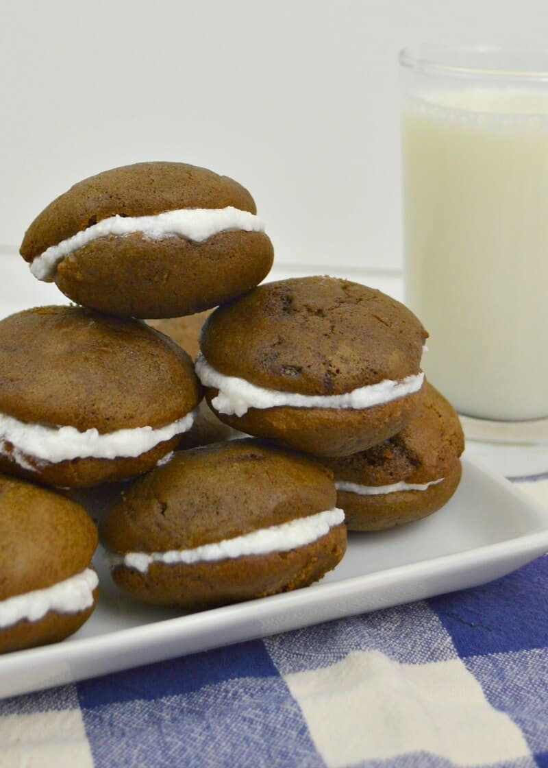 This easy whoopie pies recipe is your ticket to nostalgic deliciousness. Make these amazing whoopie pies for a picnic, party or any get together.