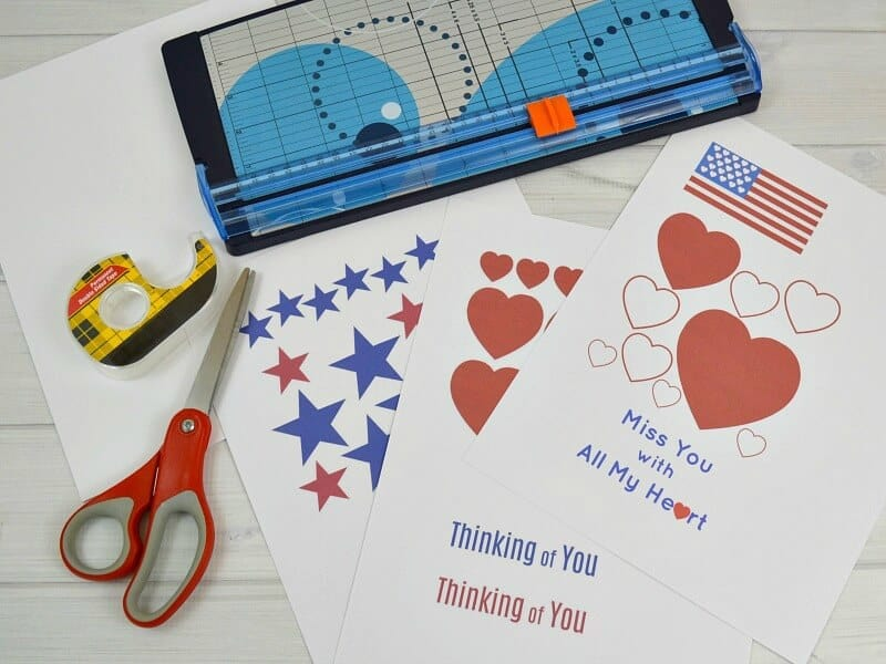 Use this free printable to create cards to support our troops. Also, create cards to share with deployed troops to send to their families because there are no card stores out in the field. #CokeDGSupportMilitary #ad