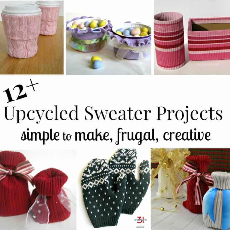 Recycled sweaters are wonderful inspiration for craft projects. These 12+ upcycled sweater projects are easy to make, frugal and beautifully creative.