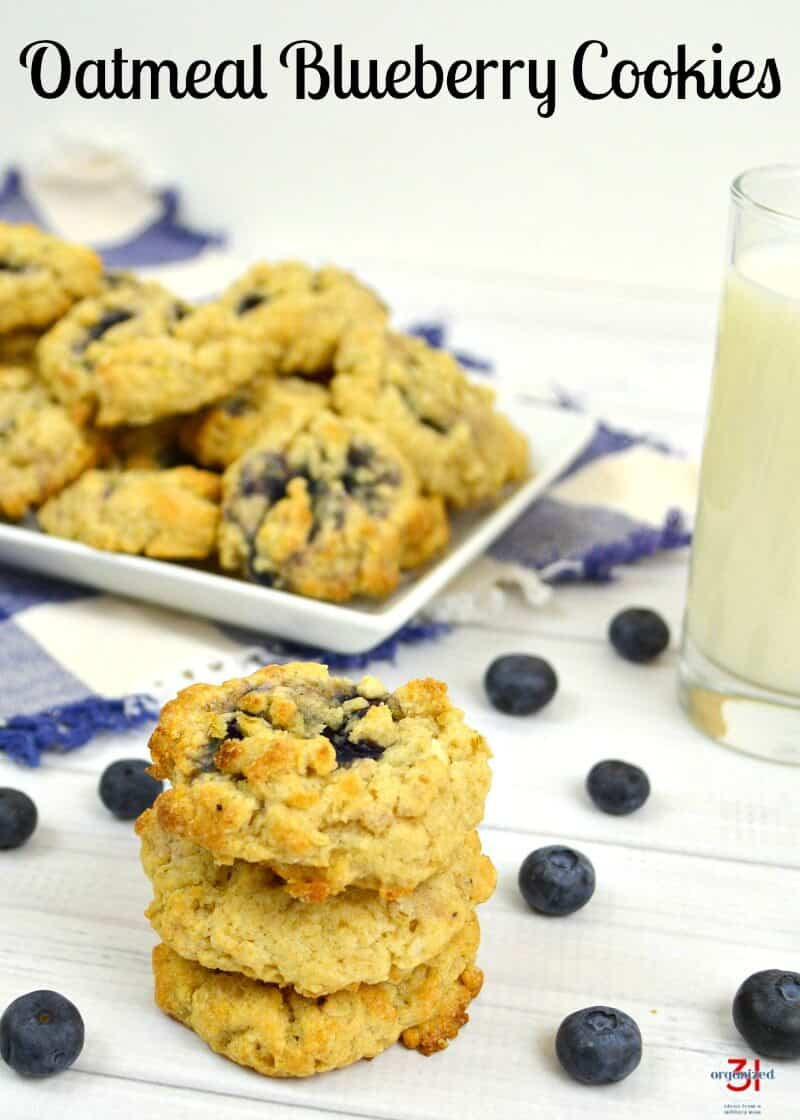 Old-fashioned Oatmeal Blueberry Cookies from my grandmother's recipe box. So easy to make and perfect for breakfast or an after-school snack.