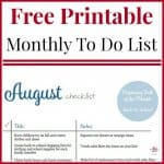 August To Do Checklist Free Printable